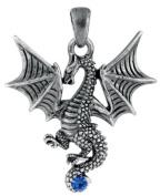 New Blue Tatsu Dragon Pendant Collectible Accessory Serpent Necklace