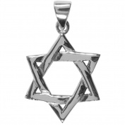 Star Of David - Sterling Silver Pendant Necklace
