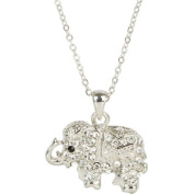 Heirloom Finds Royal Crystal Elephant Pendant Necklace - Dressed in Blanket