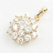 18K Gold Plated Cubic Zirconia Pendant