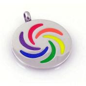 Gay Rainbow Sisters Gay Pride Pendant Medallion