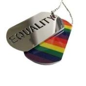 Gay Rainbow Sisters Pendant Equality Dog Tag Pendant