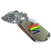 Gay Rainbow Sisters Lightning Bolt Pendant Gay Pride Dog Tag
