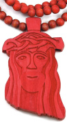 Jesus Piece New Red Good Wood Goodwood Replica Pendant & 91.4cm Necklace