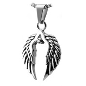 Stainless Steel Pendant with Wings Design