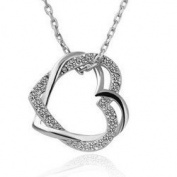 Love Heart Crystal Charm Pendant Necklace Fashion Jewellery