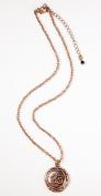 Necklace, Copper Om Medallion