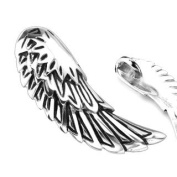 316L Stainless Steel Fallen Angel Wing Pendant - 45mm x 16mm