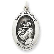 Sterling Silver Antiqued Saint Anthony Medal