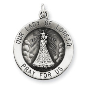 Sterling Silver Antiqued Our Lady of Loreto Medal