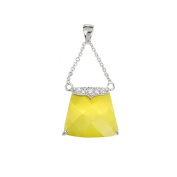 Studio 925 Yellow Pocketbook Charm Sterling Silver Pendant