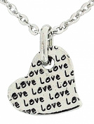 The Olivia Collection 'I Love You More' Love Heart Pendant