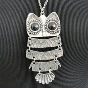 Tibetan Silver Night Owl Necklace