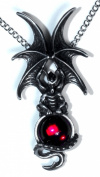 Majestic Dragon Pendant with Red. Crystal