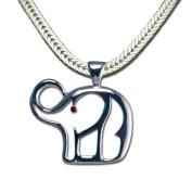 Outline Elephant Neckslide/Pendant