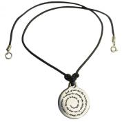 Serenity Prayer Medallion Leather Necklace