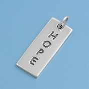 Sterling Silver Vertical Hope Pendant - High Polish