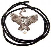 `Flight Of The Goddess` Pewter Owl Pendant Pagan