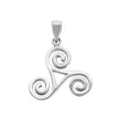 Celtic Triskele Sterling Silver Pendant
