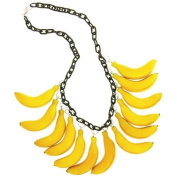 Banana Necklace In Yellow With Black Finish