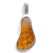 Honey Amber and Sterling Silver Pendant