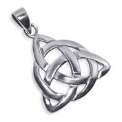 Sterling Silver 25mm Triquetra Celtic Endless Knot Pendant Charm