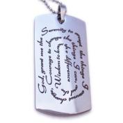 Serenity Prayer Designer Dog Tag Necklace