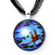 Siamese Cats in a Pine Tree Zen Necklace Handmade Jewellery