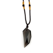 O-stone Natural Ice Obsidian Necklace Spike Amulet Pendant Grounding Stone Protection Limited Sales Promotion. Best Selling