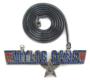 Black Iced Out Taylor Gang Music Pendant & 91.4cm Franco Necklace Chain