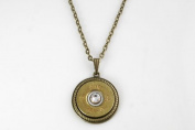 20 Gauge Thin Winchester Brass Bullet Necklace