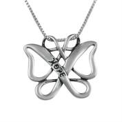 Sterling Silver Infinite Hope Celtic Butterfly Pendant