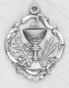 Sterling Silver Eucharist Chalice First Communion Gift Pendant Medal