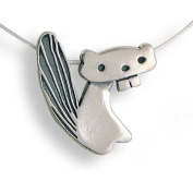 Beaver Sterling Silver Charm Necklace