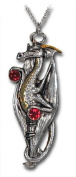 Ruby Draco Red Crystal Dragon Pendant Necklace