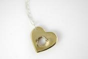 Shot Through the Heart Brass Necklace