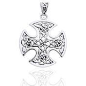 Still Centre Celtic Knot Cross Sterling Silver Pendant by Courtney Davis