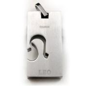 Accents Kingdom Titanium Leo Zodiac Sign Pendant Necklace 50.8cm ,