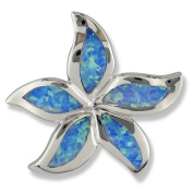 Synthetic Opal Sterling Silver Star Fish Pendant