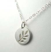 Tree Hugger Sterling Silver Leafy Branch Charm Necklace Nature Themed Pendant Jewellery