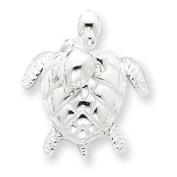 Sterling Silver Mother and Baby Turtle Pendant - JewelryWeb