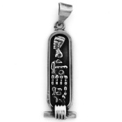 Egyptian Jewellery Silver Queen Neferiti Cartouche Pendant