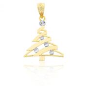 Gold Christmas Tree Charm, 10k