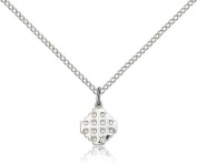 Jerusalem Cross Pendant, Sterling Silver