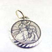 "Pendant silver ""Saint Christophe"" old."