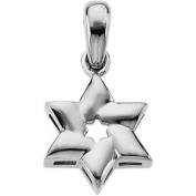 Sterling Silver Star Of David Pendant - JewelryWeb