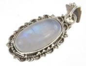 925 Sterling Silver RAINBOW MOONSTONE Pendant, 3.5cm , 5.83g