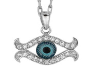 Sterling Silver 45.7cm Evil Eye Pendant LIFETIME WARRANTY