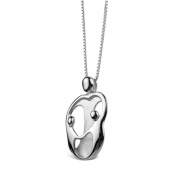 Sterling Silver Loving Family® Heart Necklace - Mother and 2 Children