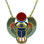 Egyptian Jewellery Scarab Beetle Pendant with Chain